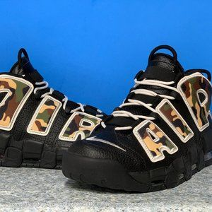 Nike Air More Uptempo 96 QS SU19 Mens Camo Black